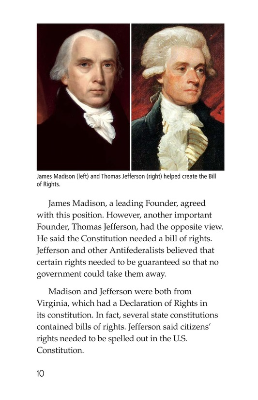 Book Preview For The Bill of Rights Page 10