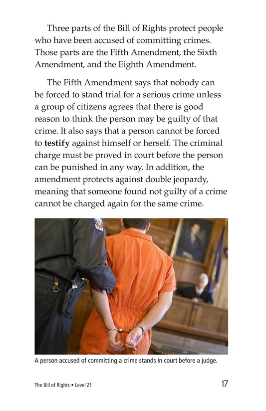 Book Preview For The Bill of Rights Page 17