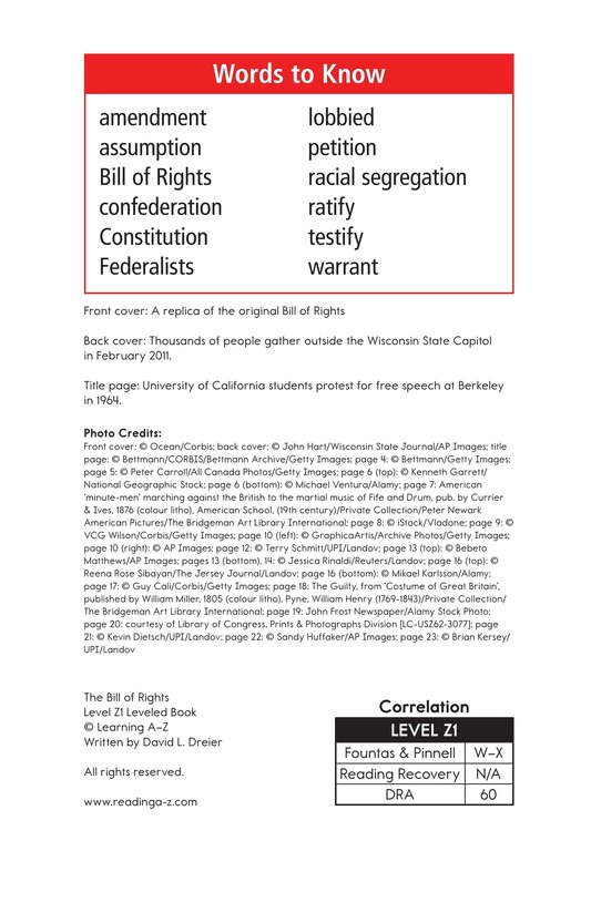 Book Preview For The Bill of Rights Page 2