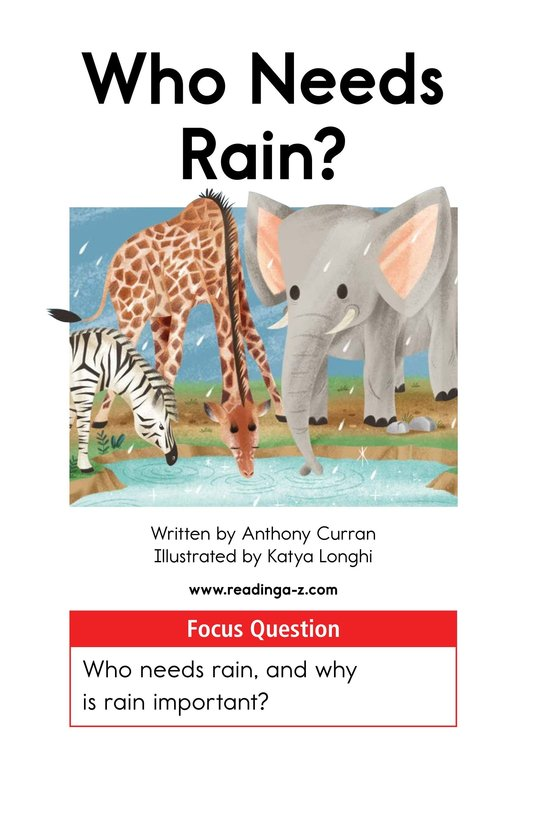 Book Preview For Who Needs Rain? Page 1