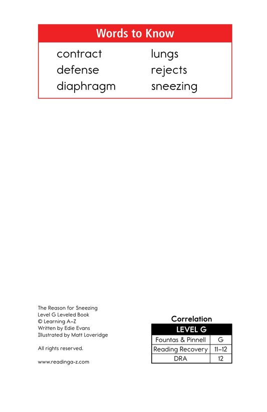 Book Preview For The Reason for Sneezing Page 2