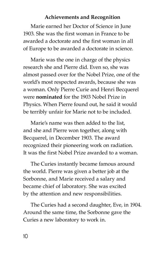 Book Preview For Marie Curie Page 10