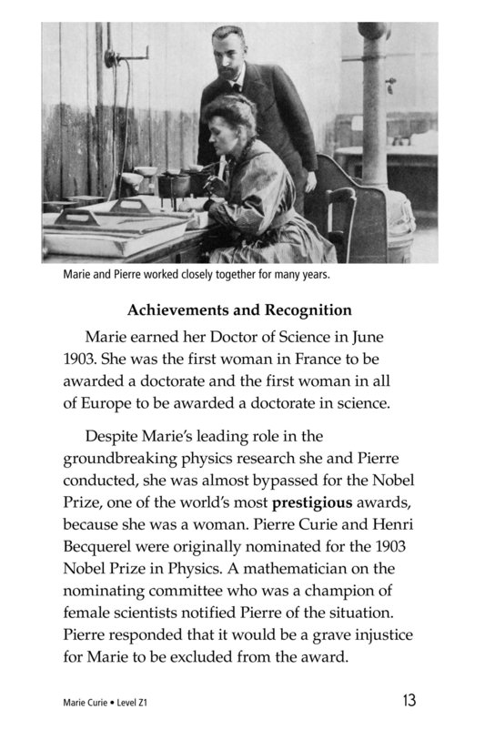 Book Preview For Marie Curie Page 13