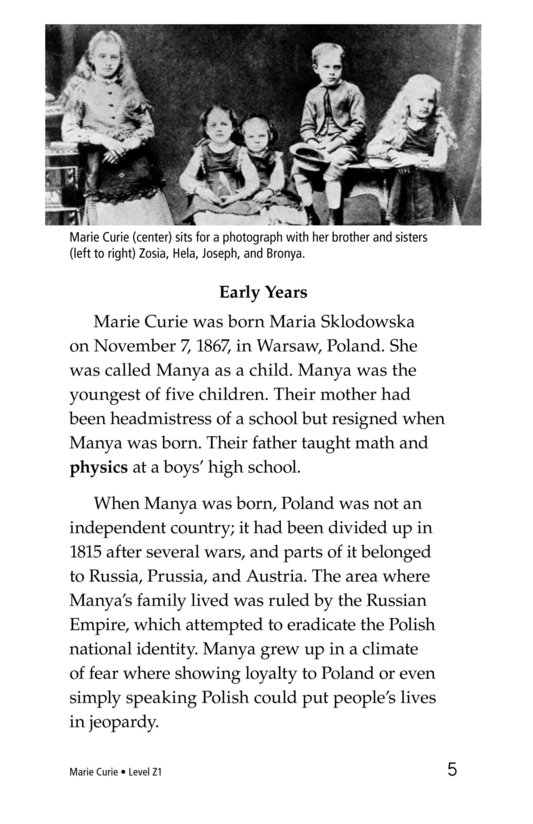 Book Preview For Marie Curie Page 5