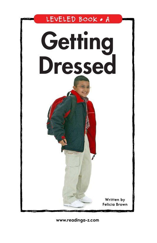 Book Preview For Getting Dressed Page 1