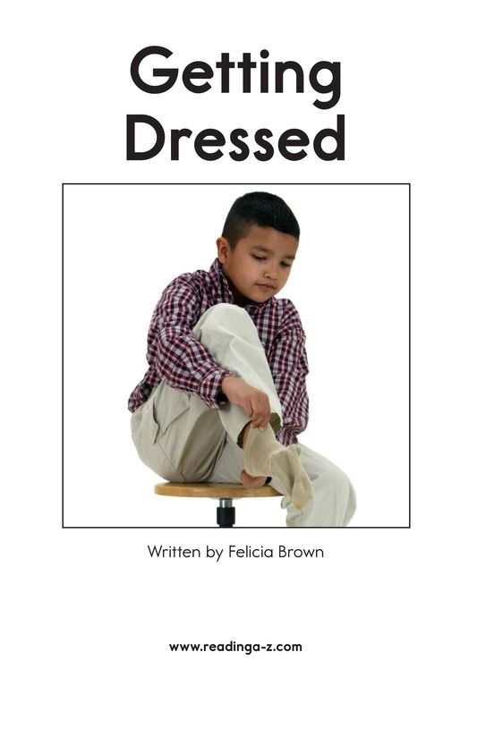 Book Preview For Getting Dressed Page 2
