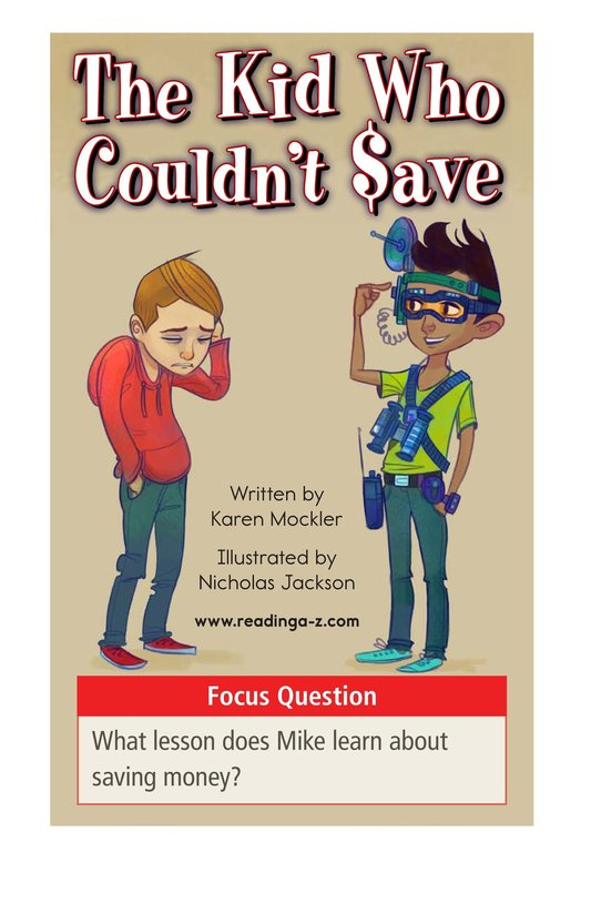 Book Preview For Book 1: The Kid Who Couldn't Save Page 1