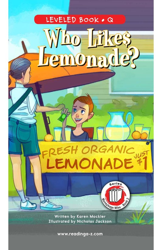 Book Preview For Book 2: Who Likes Lemonade? Page 0