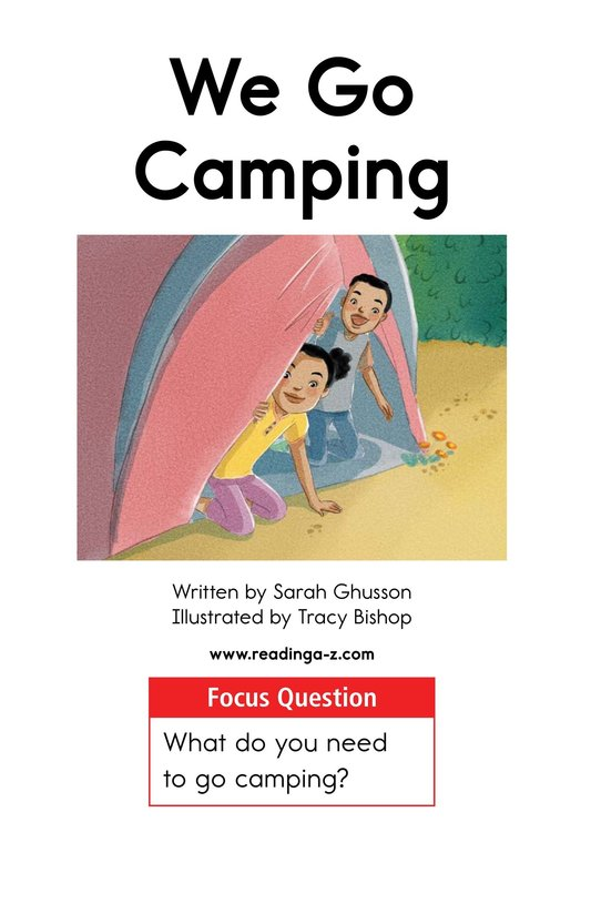 Book Preview For We Go Camping Page 1