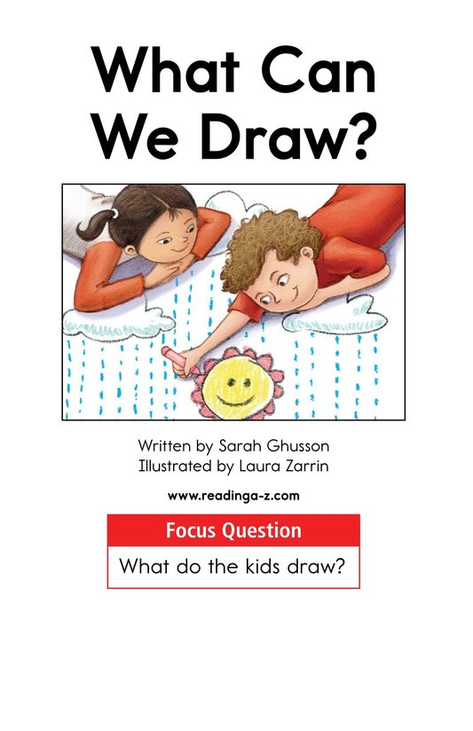 Book Preview For What Can We Draw? Page 1
