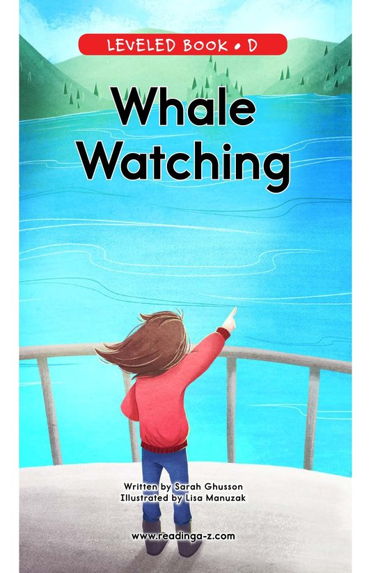 Book Preview For Whale Watching Page 0