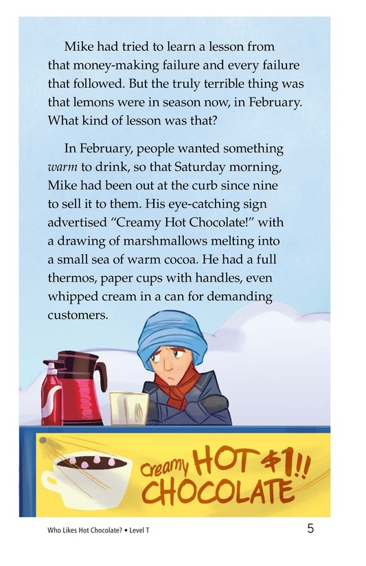 Book Preview For Book 8: Who Likes Hot Chocolate? Page 5
