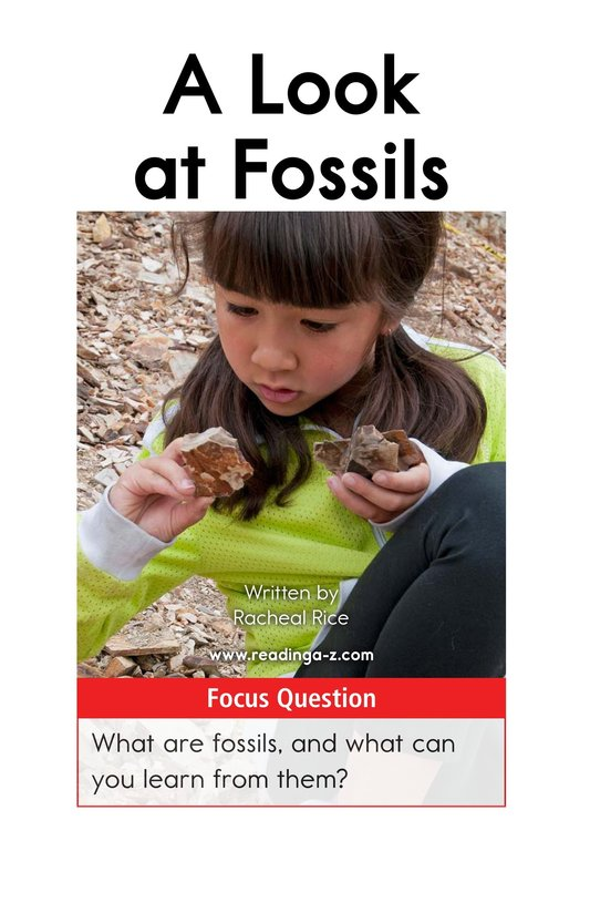 Book Preview For A Look at Fossils Page 1