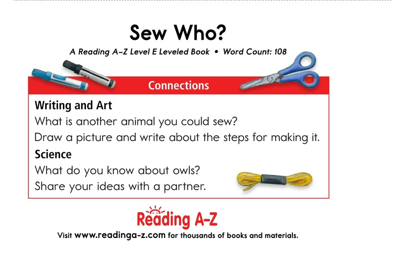 Book Preview For Sew Who? Page 13