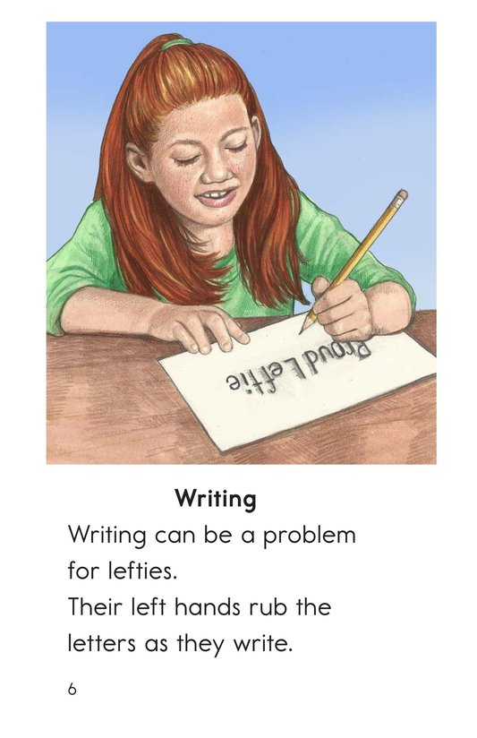 Book Preview For Being a Leftie Page 6