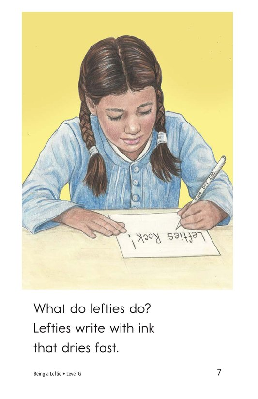 Book Preview For Being a Leftie Page 7