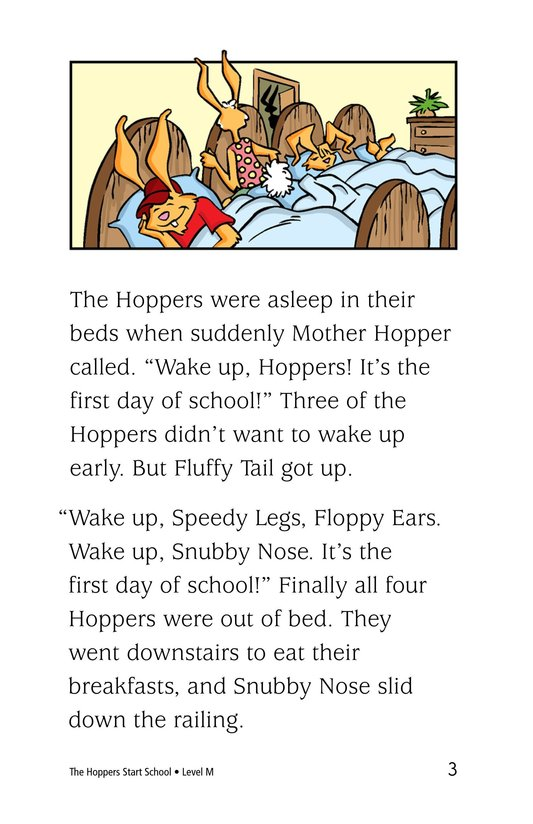 Book Preview For The Hoppers Start School Page 3