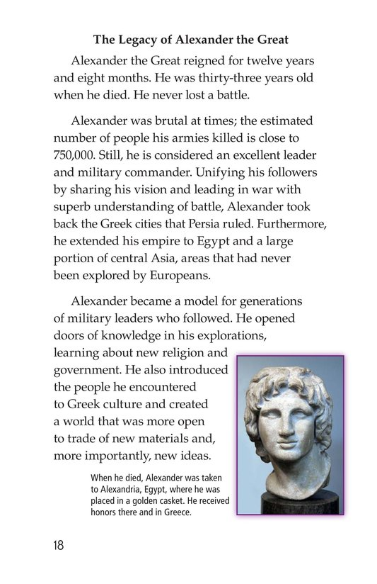 Book Preview For Alexander the Great Page 18