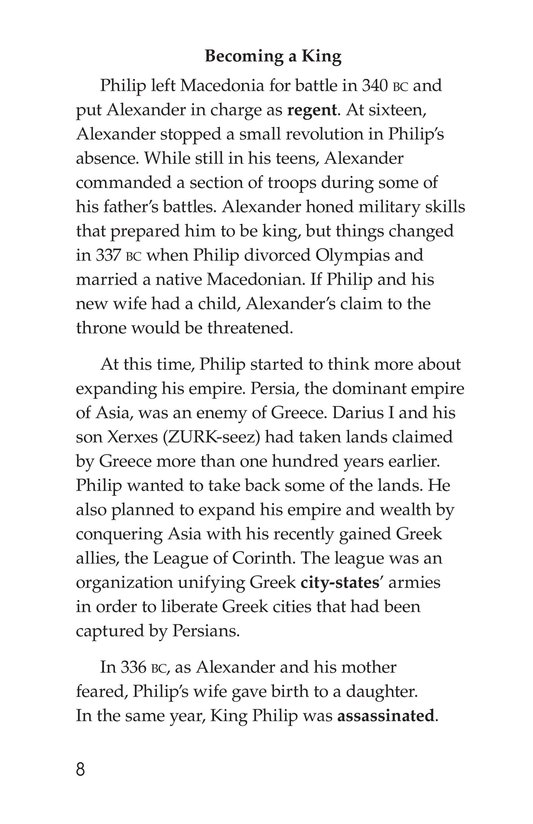Book Preview For Alexander the Great Page 8