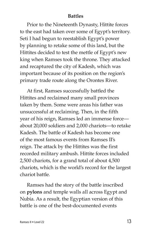 Book Preview For Ramses II Page 13