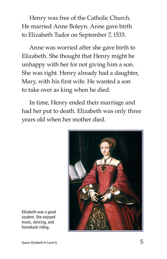 Book Preview For Queen Elizabeth I Page 5