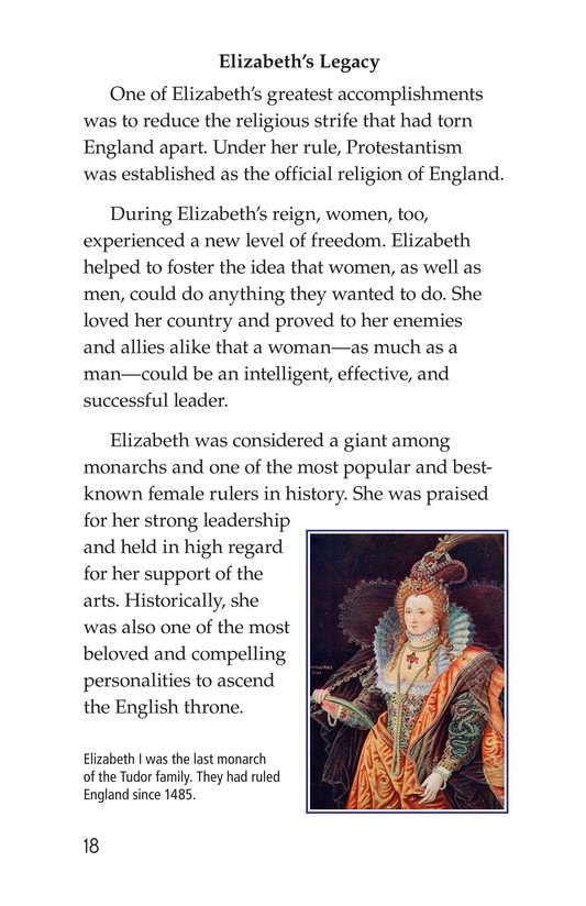 Book Preview For Queen Elizabeth I Page 18