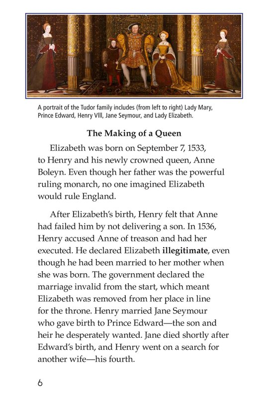 Book Preview For Queen Elizabeth I Page 6