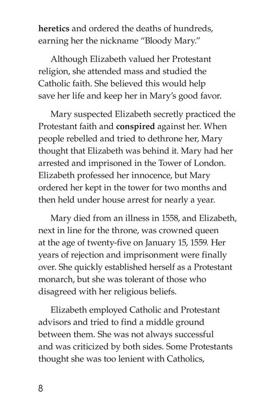 Book Preview For Queen Elizabeth I Page 8