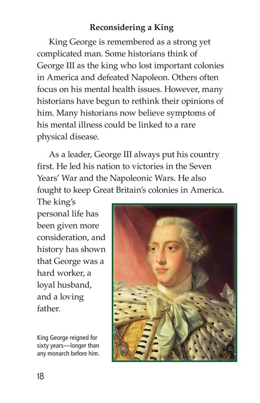 Book Preview For King George III Page 18