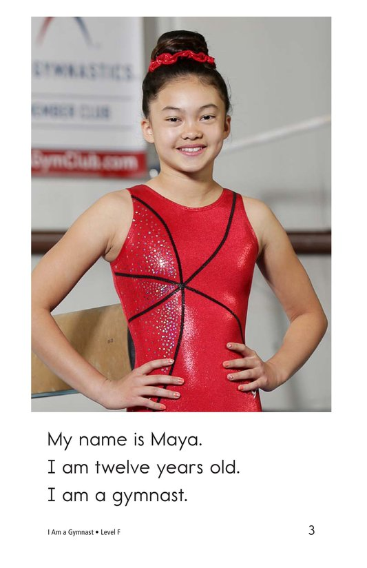 Book Preview For I Am a Gymnast Page 3