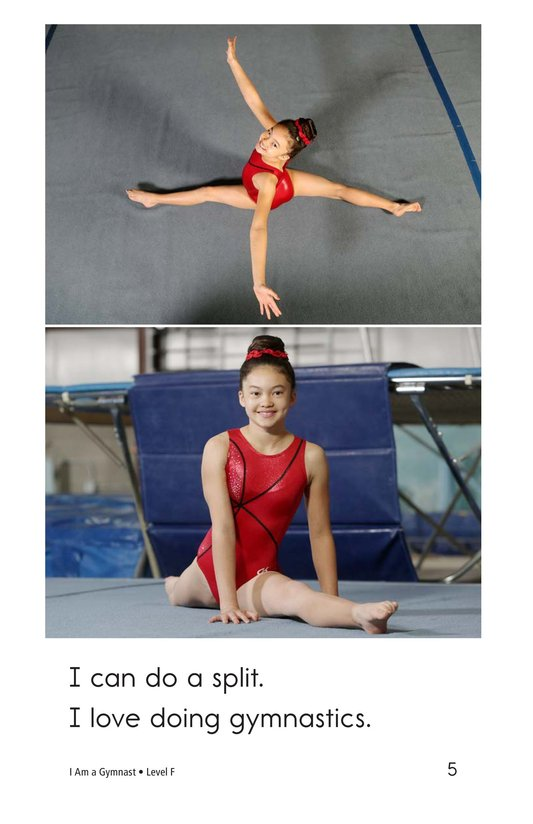 Book Preview For I Am a Gymnast Page 5