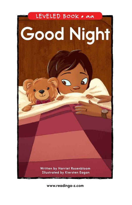 Book Preview For Good Night Page 0