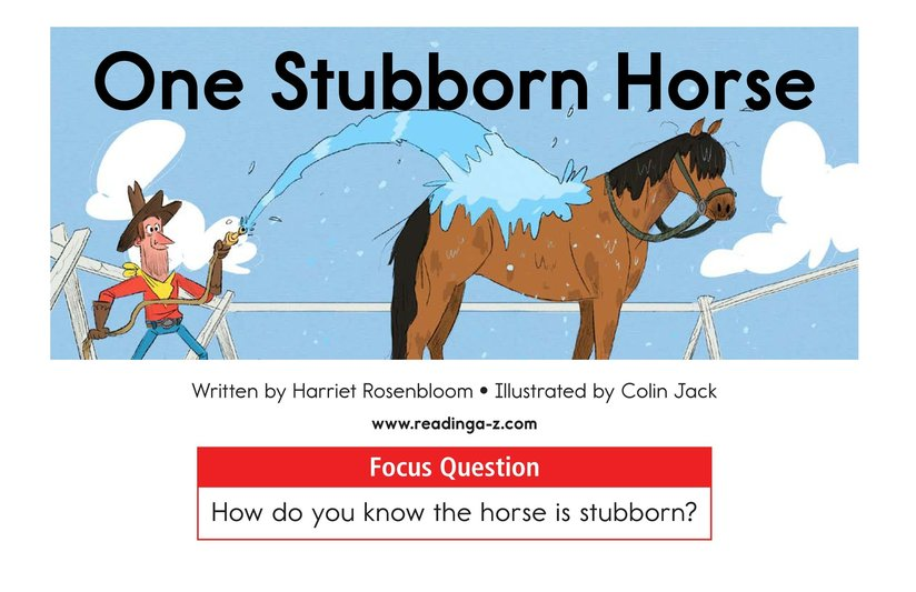 Book Preview For One Stubborn Horse Page 1