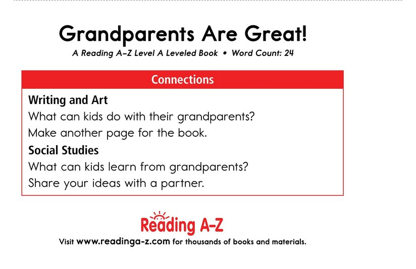 Book Preview For Grandparents are Great! Page 11