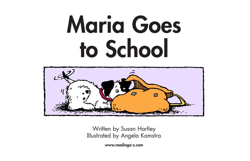 Book Preview For Maria Goes to School Page 2