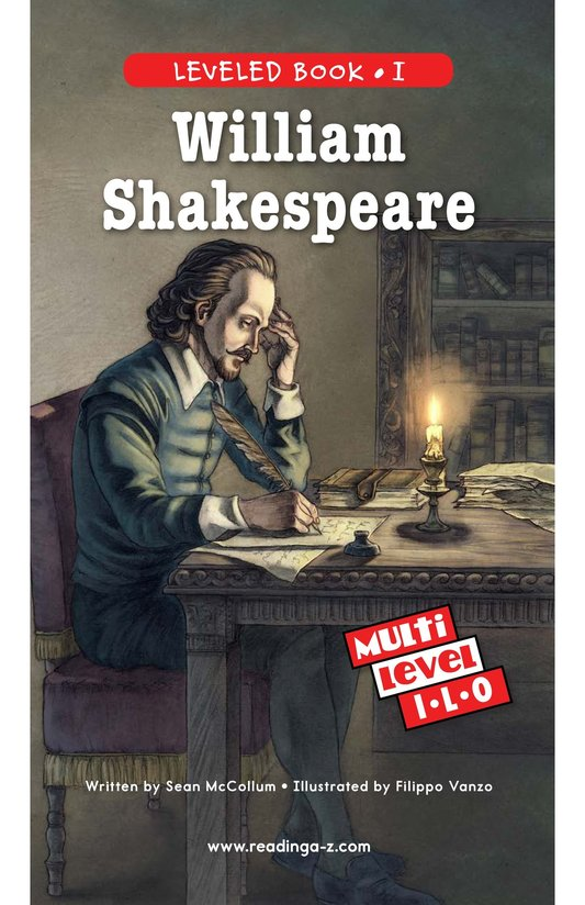 Book Preview For William Shakespeare Page 0