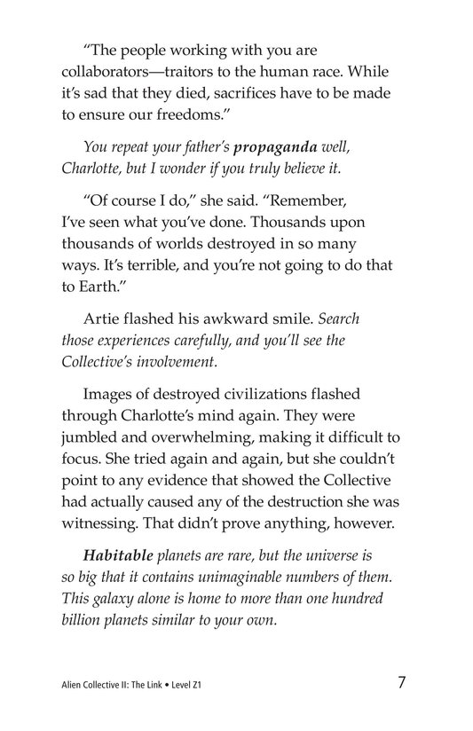 Book Preview For Alien Collective II: The Link Page 7