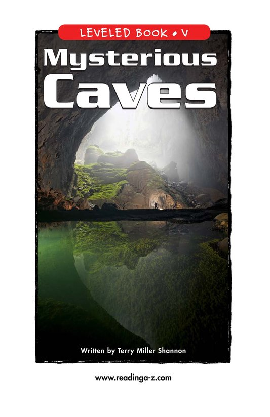 Book Preview For Mysterious Caves Page 1