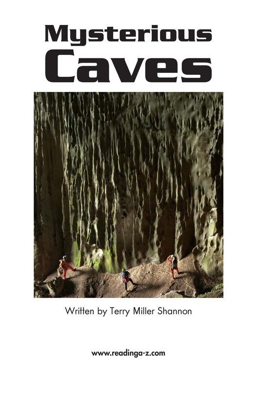 Book Preview For Mysterious Caves Page 2