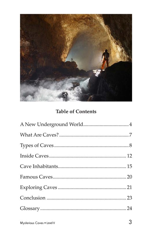 Book Preview For Mysterious Caves Page 3
