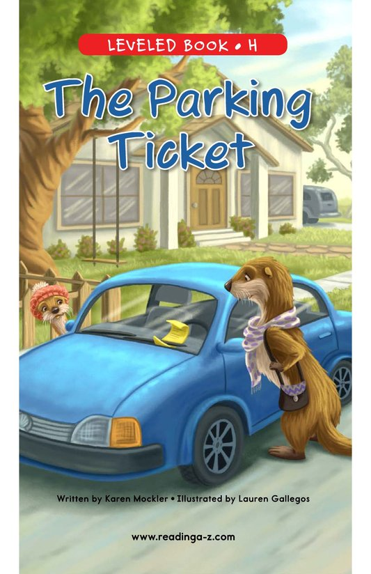 Book Preview For The Parking Ticket Page 0