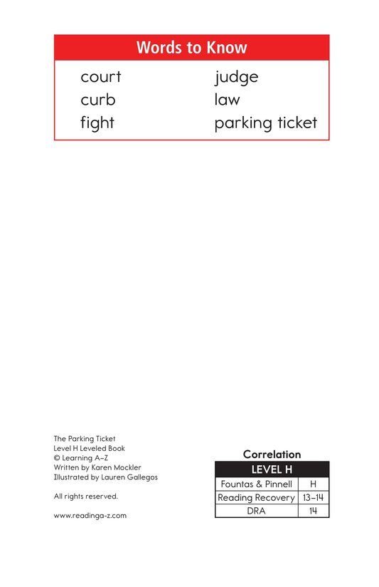 Book Preview For The Parking Ticket Page 2