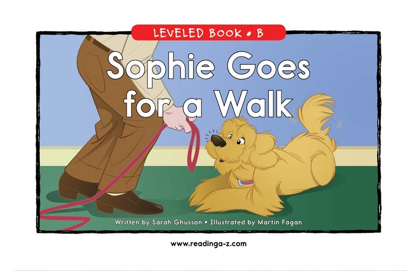 Book Preview For Sophie Goes for a Walk Page 0