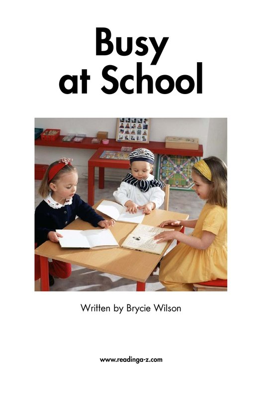 Book Preview For Busy At School Page 2