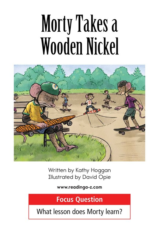 Book Preview For Morty Takes a Wooden Nickel Page 1