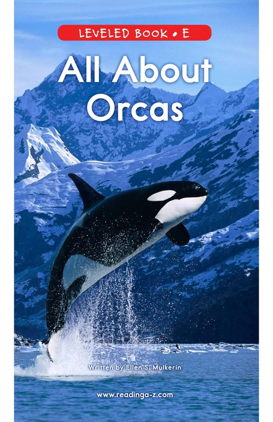 Book Preview For All About Orcas Page 0