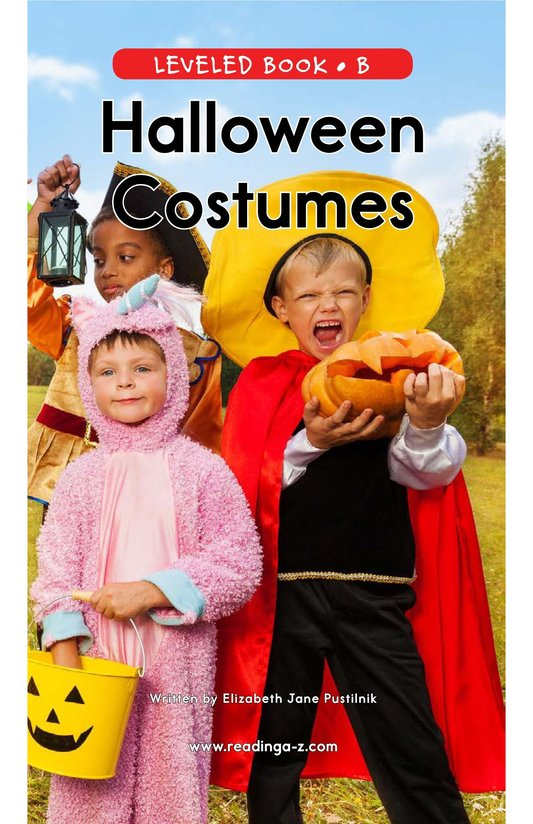 Book Preview For Halloween Costumes Page 0