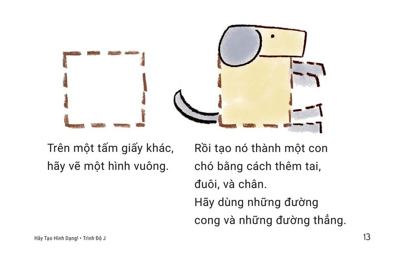 Book Preview For Let's Make Shapes! Page 13