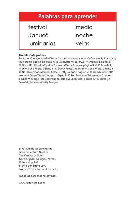 Book Preview For The Festival of Lights Page 2