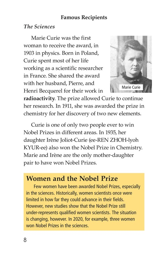 Book Preview For The Nobel Prize Page 8